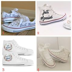 converse diy hack mariage comment customiser ses chaussures just married schoes Wedding Dress Necklace, Buy Wedding Dress, Wedding Dresses, Wedding Converse, Wedding Shoes, Lace Wedding, Bride Of Frankenstein Costume, Dress With Converse, Wedding Crafts