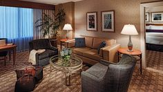 Mohegan Sun: Cove Suites are 843 square feet and feature a living area with a sofabed.