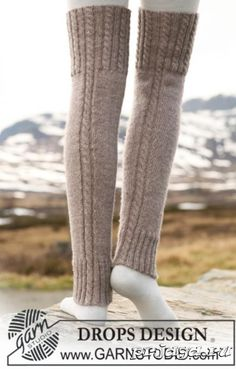 Woolly trotters / DROPS - free knitting patterns by DROPS design Outlander Knitting Patterns, Knitting Patterns Free, Free Knitting, Free Pattern, Pattern Ideas, Crochet Leg Warmers, Crochet Slippers, Drops Design, Boots With Leg Warmers