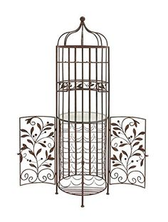 Best Wine Rack   Deco 79 Brown Metal Glass Wine Cabinet >>> To view further for this item, visit the image link. Note:It is Affiliate Link to Amazon.