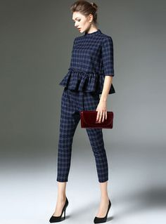 Sweet O-neck Dot Two-piece Outfits Classy Outfits, Casual Outfits, Uniqlo Women Outfit, Fashion Pants, Fashion Outfits, Suits For Women, Clothes For Women, Curvy Women Fashion, Two Piece Outfit