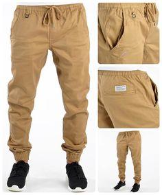 8e38fe8689a1a Pantalones de caqui Pantalones Jogger Hombre