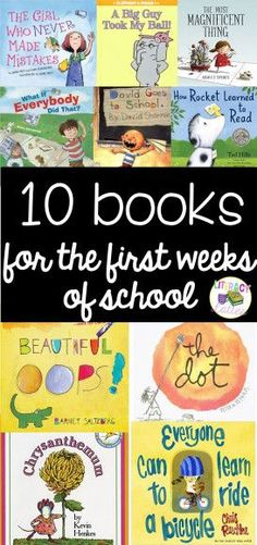 10 Books for the First Weeks of School | Literacy And Lattes
