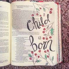 New Quotes Christmas Bible Art Journaling 21 Ideas Scripture Study, Bible Art, Bible Words, Bible Scriptures, Christmas Bible, Bible Doodling, Faith Bible, Illustrated Faith, New Quotes