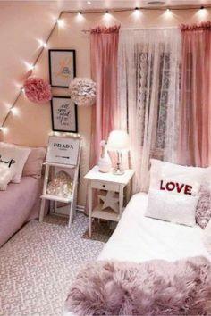 Small Room Bedroom, Trendy Bedroom, Small Rooms, Bedroom Sets, Dorm Room, Diy Bedroom Decor, Bedroom Furniture, Home Decor, Budget Bedroom