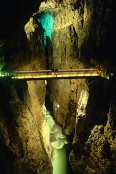 Scary bridge at Skocjan caves, Slovenia