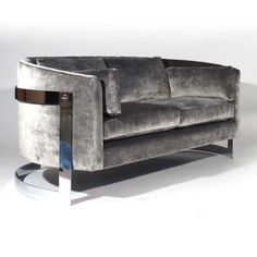 Milo Baughman Loveseat | From a unique collection of antique and modern loveseats at http://www.1stdibs.com/furniture/seating/loveseats/