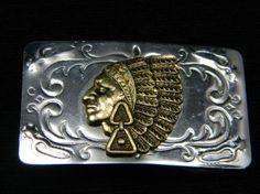 Vintage Indian Chief Head Belt Buckle made in by VogelHausVintage, $12.00