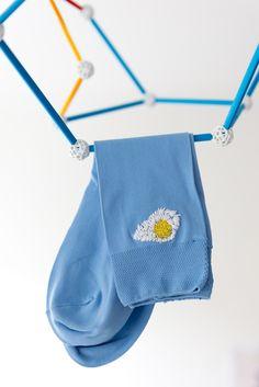 DIY: breakfast embroidered socks