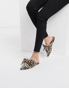 Find the best selection of ASOS DESIGN Letty bow slingback ballet flats in leopard. Shop today with free delivery and returns (Ts&Cs apply) with ASOS! Chunky Loafers, Pointed Ballet Flats, Asos, Women Oxford Shoes, Fall Shoes, Trendy Shoes, Brogues, Womens Flats, Slip On Shoes