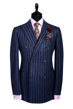 CHARCOAL PINSTRIPES - 90% WOOL / 10% CASHMERE