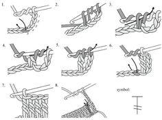 Diyagram, Sembol Ve Temel Tığ Dikişler Kısaltması 12
