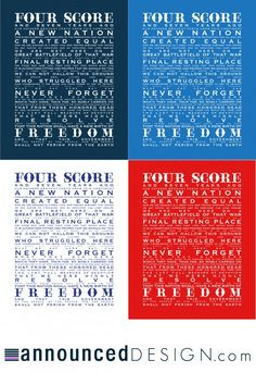 Gettysburg Address Printables from Less Cake, More Frosting - LOVE!!