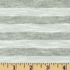 Designer Yarn Dyed Stripe Slub Jersey Knit Grey/White