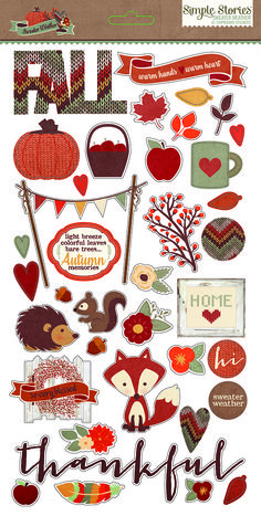 Simple Stories Sweater Weather Chipboard Stickers like this background sweater look!! Might try die cuts with old swather!!