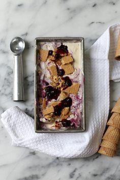 Blueberry Cheesecake Ice Cream | http://joythebaker.com/2015/05/blueberry-cheesecake-ice-cream/