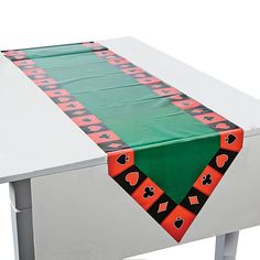 This would look goo over a red or black tablecloth. Casino+Table+Runner+-+OrientalTrading.com
