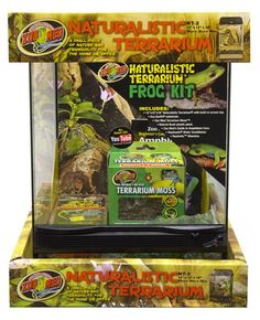 Check out Zoo Med's newest Starter Kit! The Naturalistic Terrarium #Frog #Kit.