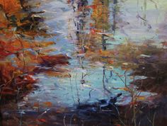 """36/""""x36/"""" NEW REFLECTION by TIM HOWE FALL ABSTRACT CANVAS"""
