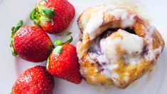 This recipe was somewhat of a revelation for me. I've always been a huge fan of cinnamon rolls but had not considered swapping the filling out for something lighter and fruitier until I found myself with way too much strawberry jam and no idea what to do...