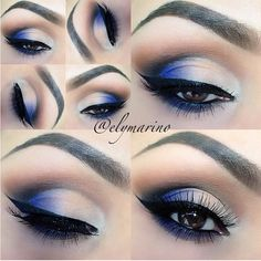 For NYE to match royal blue dress! | Makeup | Pinterest | Royal ...