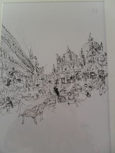 Piazza São Marco, Veneza, Itália (Álvaro Siza, caneta esferográfica sobre papel)