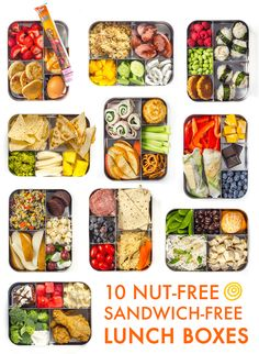 Prep-and-Pack Lunch Ideas That Aren't Sandwiches 10 Sandwich-Free Lunch Ideas for Kids and Grownups Alike — Think Outside the (Lunch) Sandwich-Free Lunch Ideas for Kids and Grownups Alike — Think Outside the (Lunch) Box Lunch Snacks, Clean Eating Snacks, Lunch Recipes, Healthy Snacks, Healthy Eating, Healthy Recipes, Work Lunches, Kid Snacks, Teacher Lunches