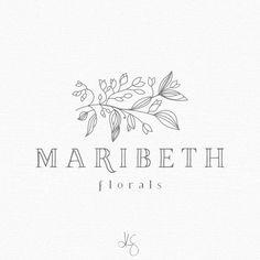 Elegant floral logo design by: Kelcie Saunders | http://etsy.me/2i1IUPm