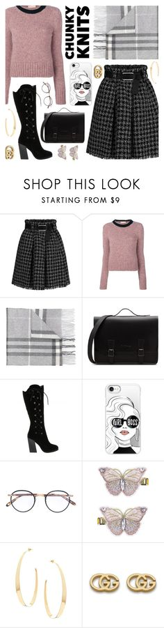"""Chunky Knits"" by shadows-past-midnight ❤ liked on Polyvore featuring Marni, Burberry, Casetify, Garrett Leight, Monsoon, Lana and Gucci"