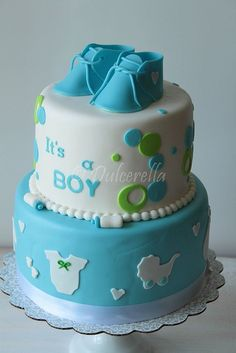 593 best boy baby shower cakes images in 2017 Baby Shower Treats, Cute Baby Shower Ideas, Baby Shower Cakes For Boys, Baby Shower Niño, Baby Boy Cakes, Shower Bebe, Baby Boy Sprinkle, Puppy Cake, Baby Christening