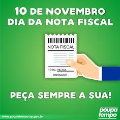 10 de novembro: Dia da Nota Fiscal. Peça a sua!
