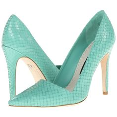 Alice + Olivia Makayala High Heels ($295) ❤ liked on Polyvore featuring shoes, pumps, heels, alice + olivia, blue, green, blue pointed toe pumps, green high heel shoes, green high heel pumps and blue shoes