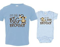 Monkey I'm the Big Brother & I'm the Little Brother, Includes Size 2 and 0-3 mo Nursery Decals and More http://www.amazon.com/dp/B00Y8TJPMS/ref=cm_sw_r_pi_dp_ukAjwb1BKAABC