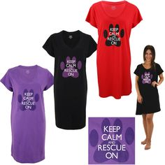 Keep Calm & Rescue On Nightshirt at The Animal Rescue Site