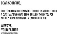 That is just so sweet of Draco....(its a first and a start) I just remembered Scorpius was Draco's son.