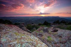 Wichita Mountains in Oklahoma