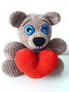 Crochet Pattern Bear Randy Amigurumi PDF Cute Brown Bear With