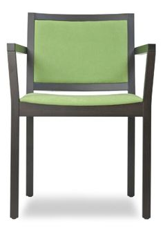 """""""B-Arm Contemporary Wood Arm Chair"""". An arm chair with upholstered seat and back.  Please contact us for pricing (718)363-3097."""