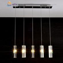 Free shipping 5 led lights Dining room crystal suspension pendant lamps Europe hanging light bedroom Kitchen Lighting fixture(China (Mainland))