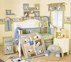 Snoopy Nursery ...the theme we picked!!  Ian is in love.  Is this gender neutral enough though?