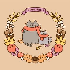 🍁 Fall is finally here! 🥧 Pusheen and friends are wishing us all cozy and fun-filled autumn days!