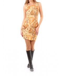 Дамска рокля, подходяща за почитателите и познавачите на географията на Moni Petrov | http://shopzone.bg/womens/рокли/68865/Moni-Petrov-дамска-рокля-кафява