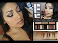 NEW KAT VON D Shade + Light Eye Contour Palette Makeup Tutorial + Review + Swatches - Kat Von D - YouTube