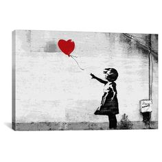 Girl with a Balloon by Banksy Canvas Print : Target