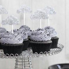 Storm cloud cupcakes