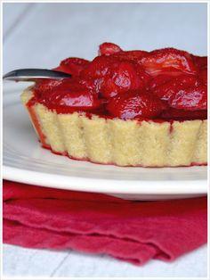 Tarte fraise vegan sans gluten