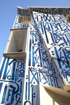 The Los Angeles graffiti writer Retna was recently invited to paint the outside of the Pasadena Museum of California Art.