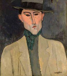 Modigliani, Amedeo (1884-1920) - 1915 Man with Hat (Christie's London, 2007) by RasMarley, via Flickr