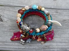 sale gypsy boho hippie bangles stacking by madhattresscreations