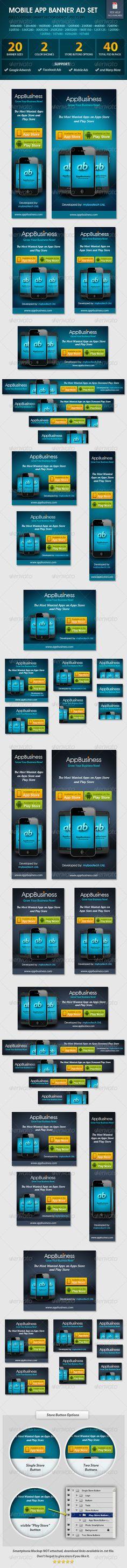 Mobile App Banner ad Set